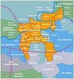 Plan de la Communauté d'agglomération
